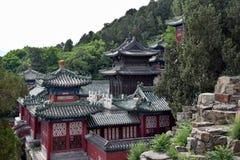 珍贵的云彩亭子,根据颐和园在北京 免版税库存图片