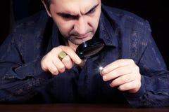 珠宝商的画象 免版税库存图片