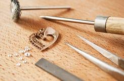 珠宝工具 免版税库存图片