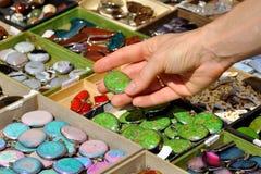 珠宝市场停转 免版税库存图片