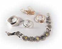 珠宝集 免版税库存图片