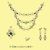 珠宝集 免版税库存照片