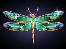 珠宝蜻蜓 皇族释放例证