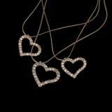 珠宝 项链心脏 库存图片