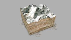 珠峰,安心高度,山 皇族释放例证