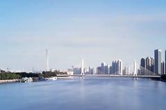 珠江和大厦 免版税库存照片