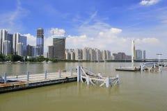珠江都市风景 库存照片
