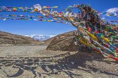 珠穆朗玛峰和flannelette寺庙 免版税库存图片