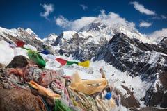 珠穆朗玛峰 库存图片