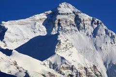 珠穆琅玛北部表面的挂接 库存照片