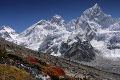 珠穆琅玛喜马拉雅山mt 库存照片