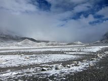 珠穆琅玛基本阵营在西藏 图库摄影