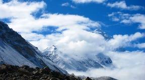 珠穆琅玛基本阵营在西藏 免版税库存图片