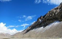 珠穆琅玛基本阵营在西藏 库存图片