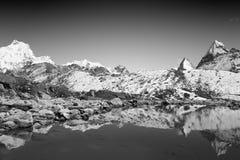 珠穆琅玛挂接尼泊尔 免版税库存图片