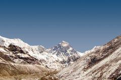 珠穆琅玛挂接尼泊尔 库存图片