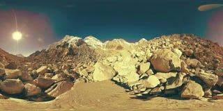 360珠穆琅玛营地的vr在Khumbu冰川的 Khumbu谷,萨加玛塔国立公园,喜马拉雅山的尼泊尔 EBC 股票视频