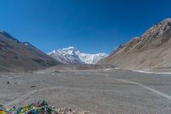 珠穆琅玛营地,西藏 库存照片