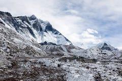 珠穆琅玛营地TREK/NEPAL - 2015年10月29日 库存照片