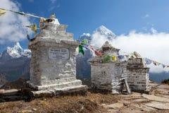 珠穆琅玛营地TREK/NEPAL - 2015年10月19日 库存照片