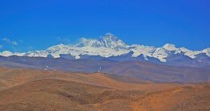 珠穆琅玛lhotse俯视 免版税库存照片
