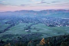 珠穆琅玛mt日落 蝙蝠鱼国家公园,康特拉科斯塔县,加利福尼亚 库存图片