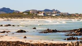珠色海滩 免版税库存照片