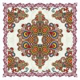 班丹纳花绸传统花卉装饰的佩兹利 库存照片