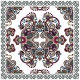 班丹纳花绸传统花卉装饰的佩兹利 免版税库存照片