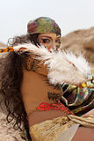 班丹纳花绸女性部族佩带 库存照片