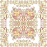 班丹纳花绸传统花卉装饰的佩兹利 库存图片