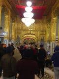 班戈拉・撒西比谒师所的Gurudwara,德里宗教献身者 免版税库存照片
