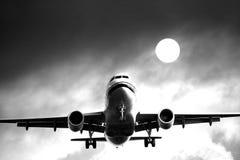 班机喷气机 免版税库存照片