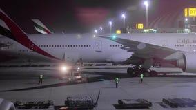 班机在机场 影视素材