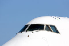 班机驾驶舱窗口 图库摄影