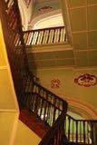 班格洛宫殿的老木台阶  库存照片