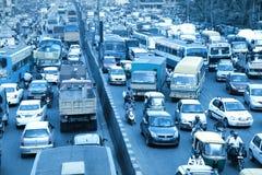 班格洛城市交通在印度 图库摄影