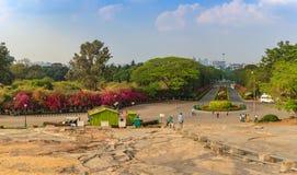 班格洛市地平线-印度 免版税库存图片