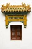 班禅喇嘛寺庙窗口  库存图片