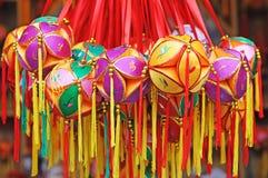 球中国五颜六色的刺绣 免版税库存图片