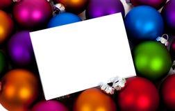 球中看不中用的物品圣诞节notecard白色 免版税库存图片