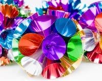 球五颜六色的丝带 图库摄影