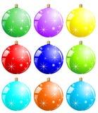 球五颜六色的xmas 免版税库存照片