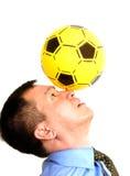 球他的人鼻子 免版税库存照片