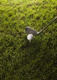 球俱乐部高尔夫球发球区域 免版税库存图片