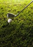 球俱乐部高尔夫球发球区域 库存照片