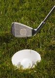 球俱乐部高尔夫球发球区域 免版税图库摄影