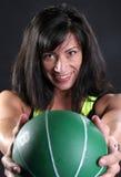 球健身绿色 免版税图库摄影