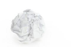 球关闭被弄皱的纸张 免版税库存照片