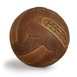 球减速火箭的足球 免版税库存图片